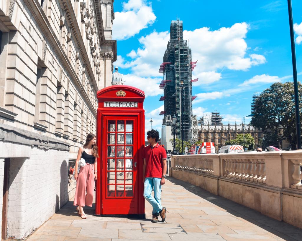 O que visitar em Londres? - Telefone e Big Ben