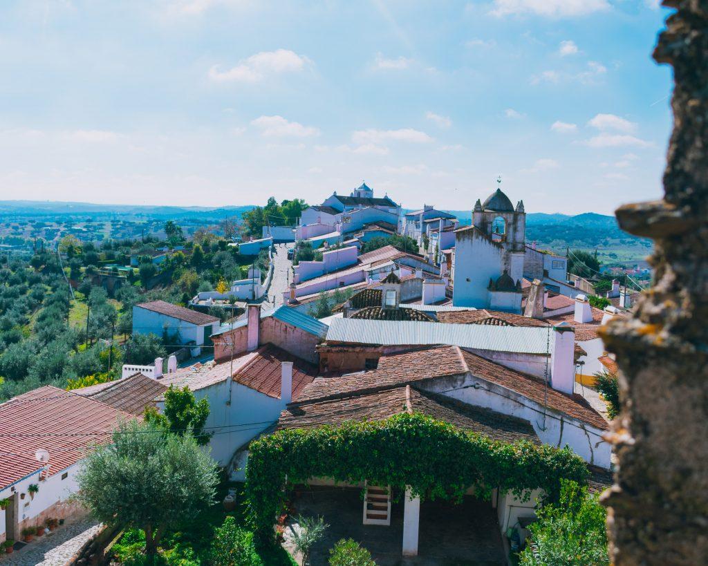 Vista do Castelo de Terena