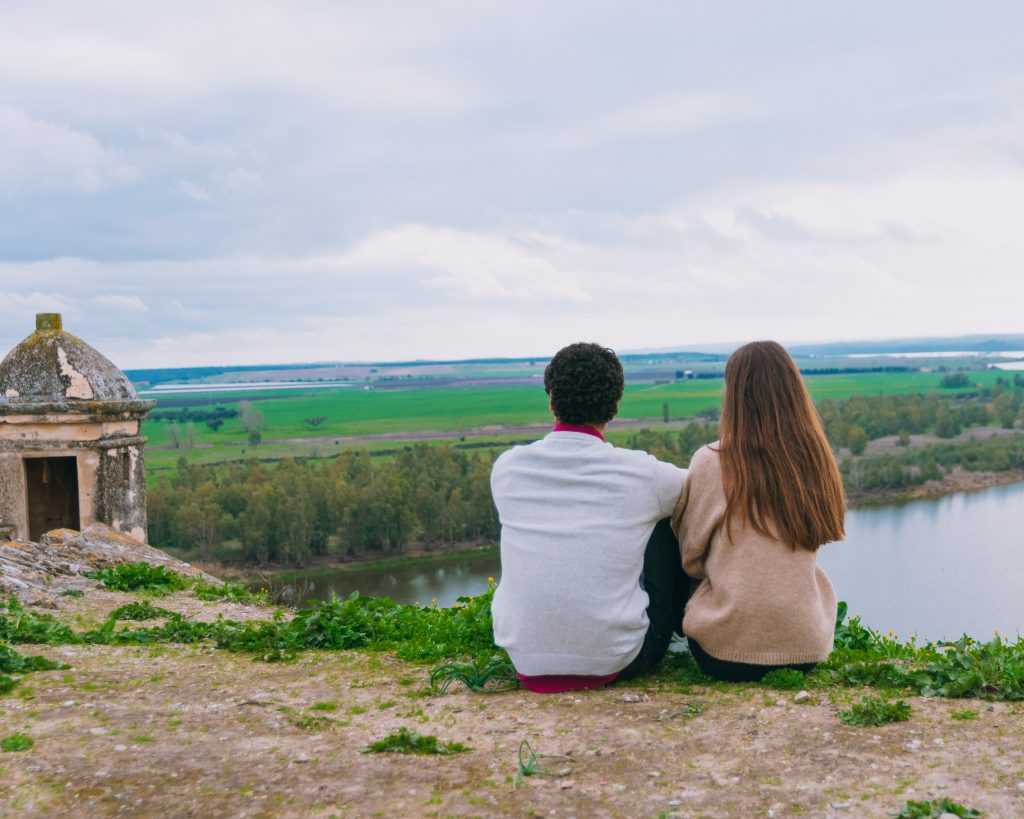Vista para barragem do Alqueva Fortaleza de Juromenha