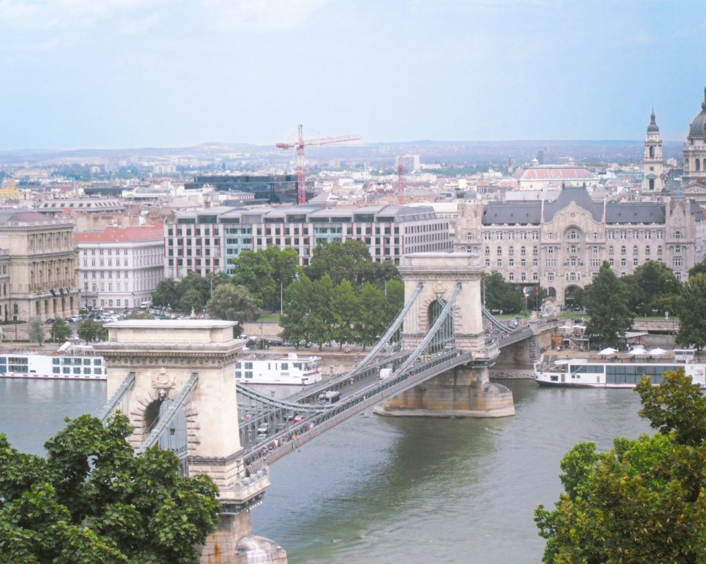 Budapeste Ponte das Correntes vista de Buda